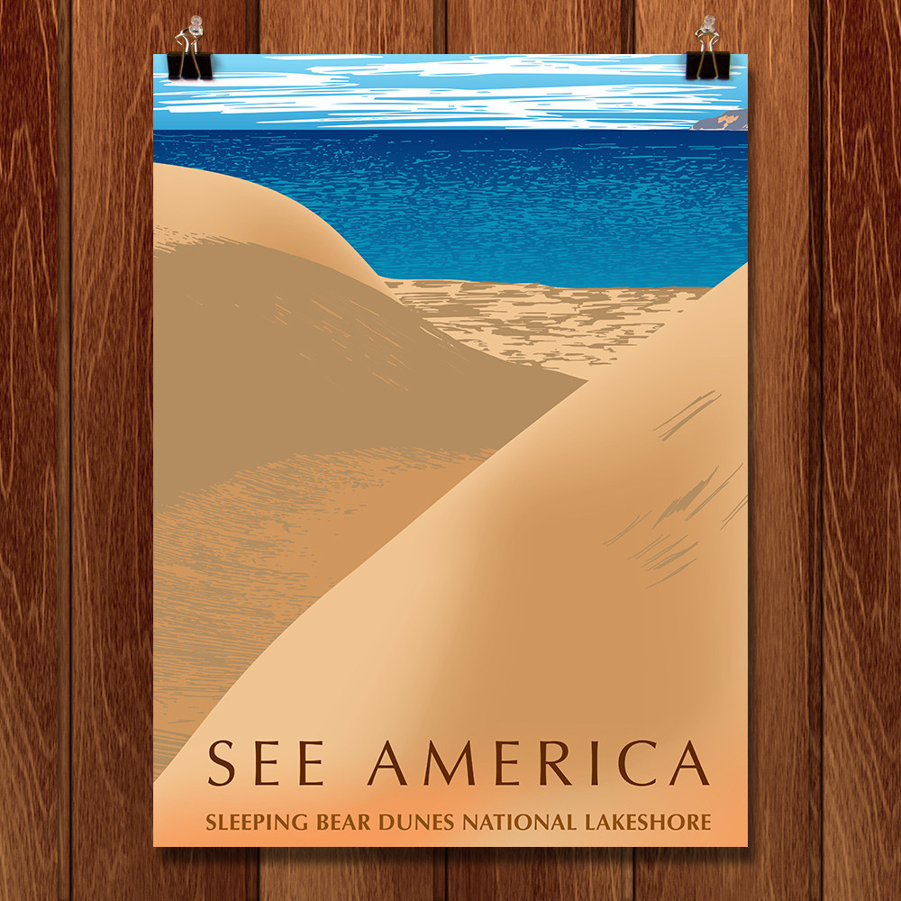 Seeing America. See Michigan. Check out the Poster of Sleeping Bear Dunes!