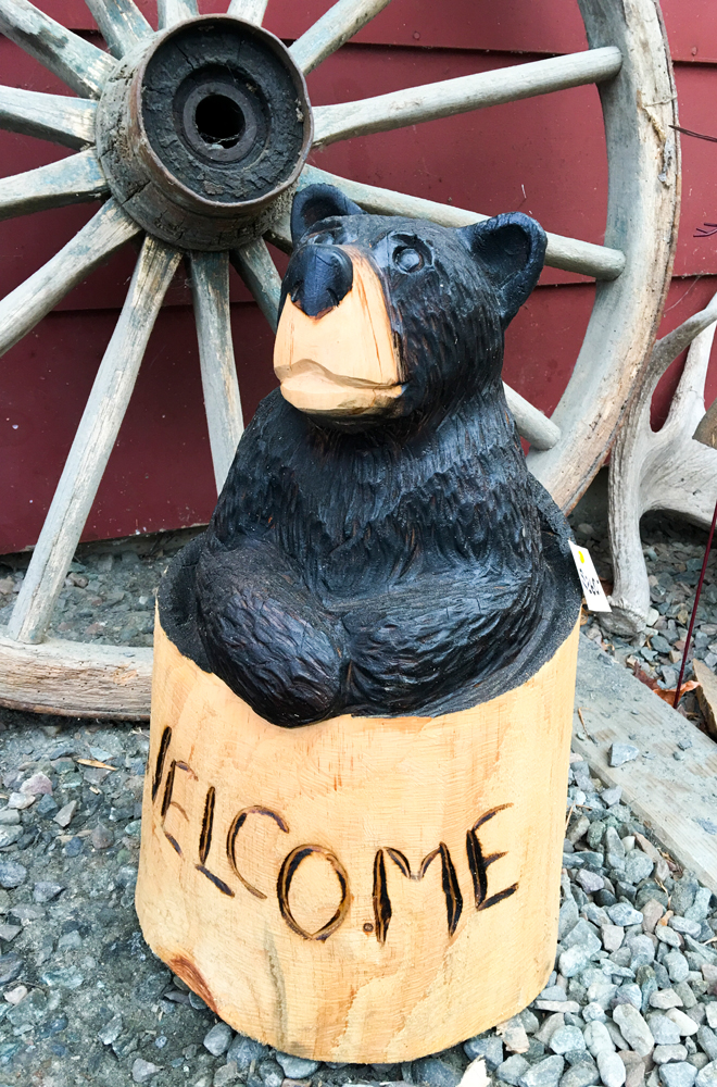 Where the Bears Are - Charlie O'Brien - Wooden Bear Carving Welcome