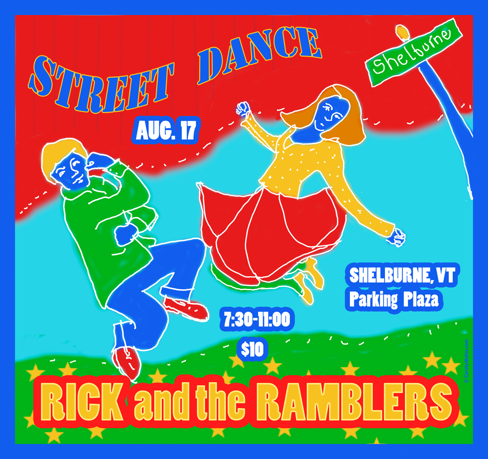 FABULOUS STREET DANCE WITH RICK AND THE RAMBLERS.