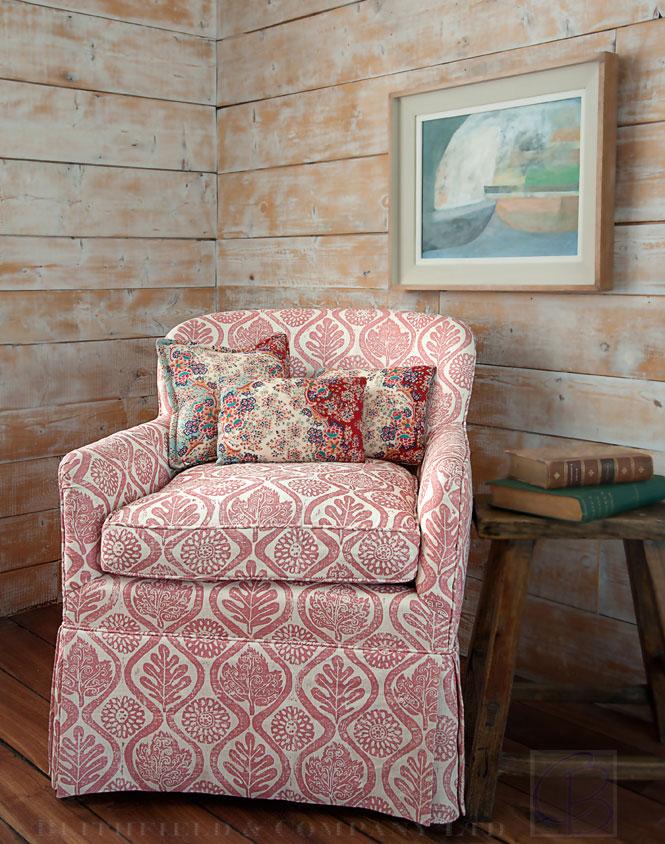 Blithfield and Company fabrics wallpaper carolyn bates chair
