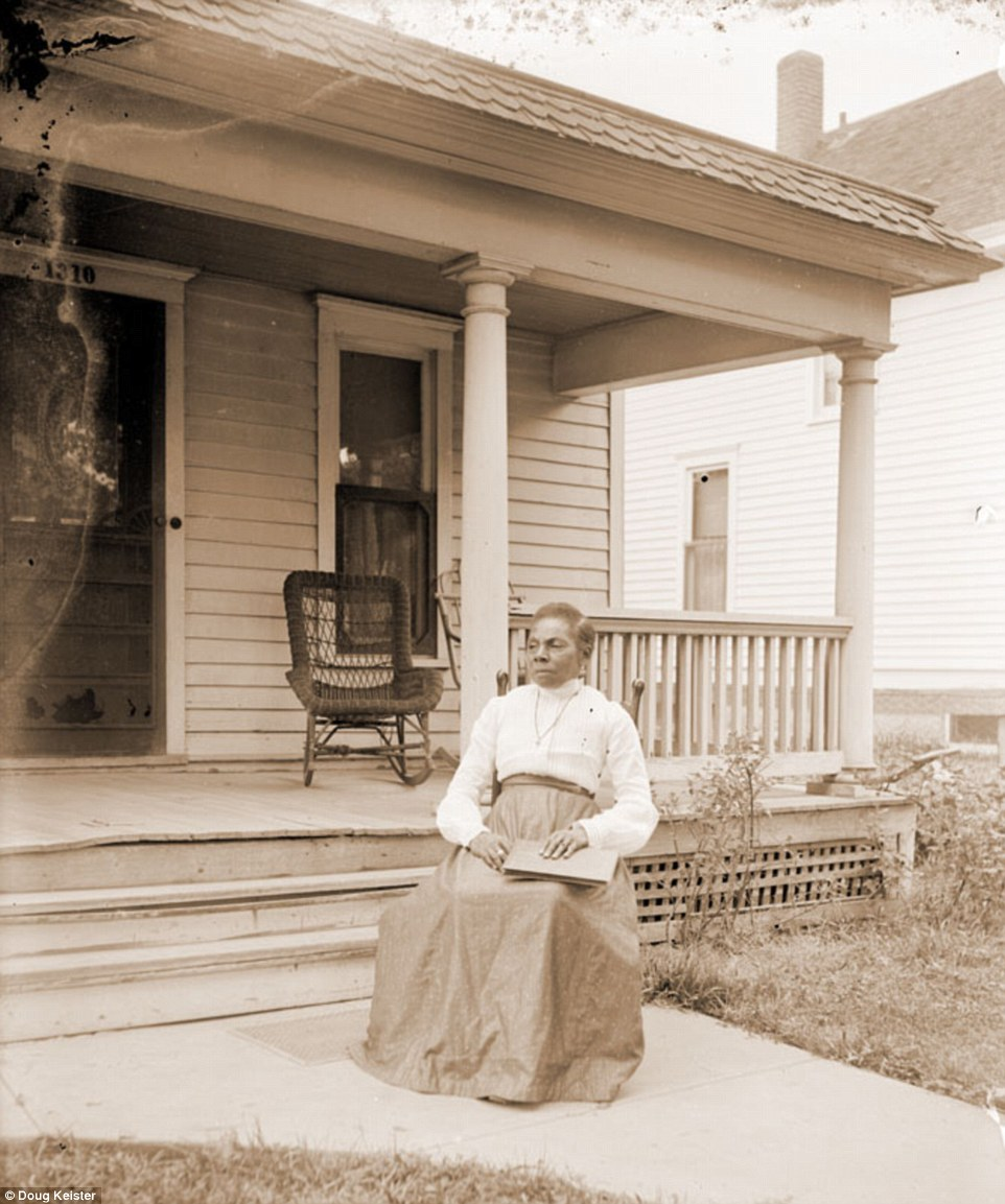 Johnson is known to have taken at least 500 photographs. Among those portraits, Johnson captured images of his friends and family, including his mother, Margaret Johnson, pictured. Margaret was born in Mississippi in 1854, probably in slavery, and died in Lincoln in 1926. She is pictured in front of Johnson's house.