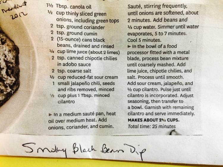 Smoky Black Bean Dip Recipe