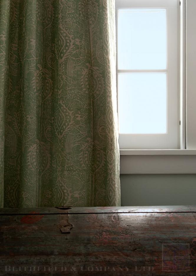 Blithfield and Company fabrics wallpaper carolyn bates curtains