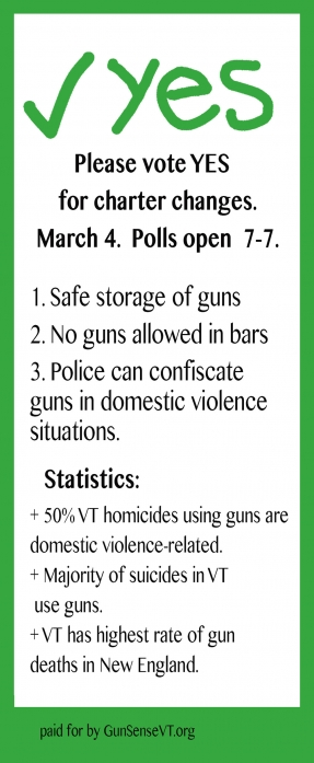 Gun Sense Vermont Handout back