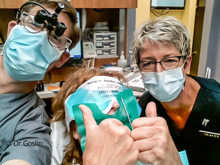 Dr Goslin, Tracey and I in a Dentist SELFIE!