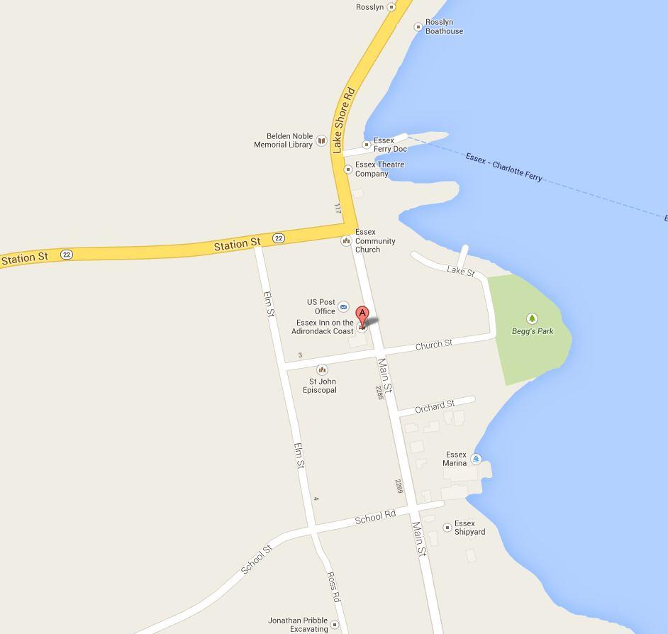 Essex Inn Map