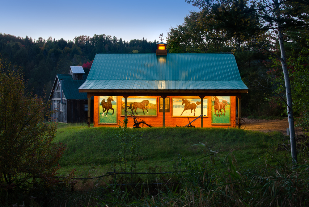 An Author's Inspiration: A revnovated century-old schoolhouse with a spectacular barn!
