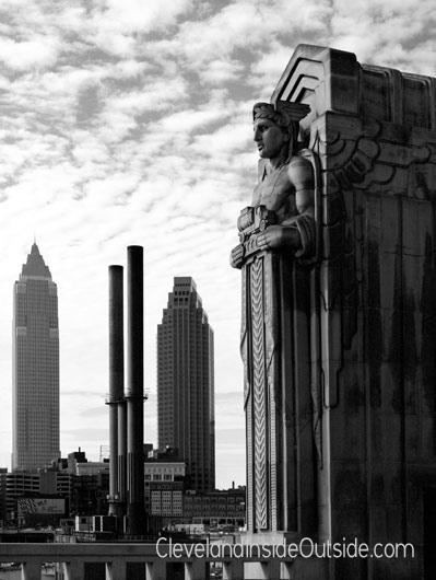 Cleveland-City-View-Hope-memorial-Bridge--BW