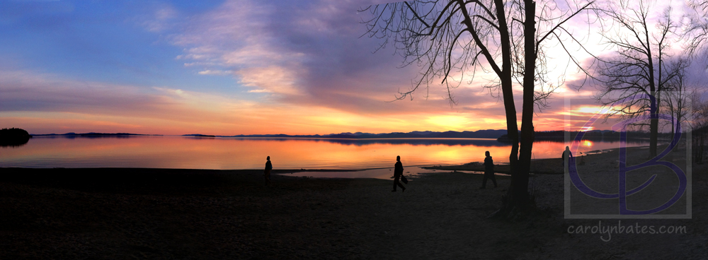 Lake Champlain at Sunset (Panoramic 2)