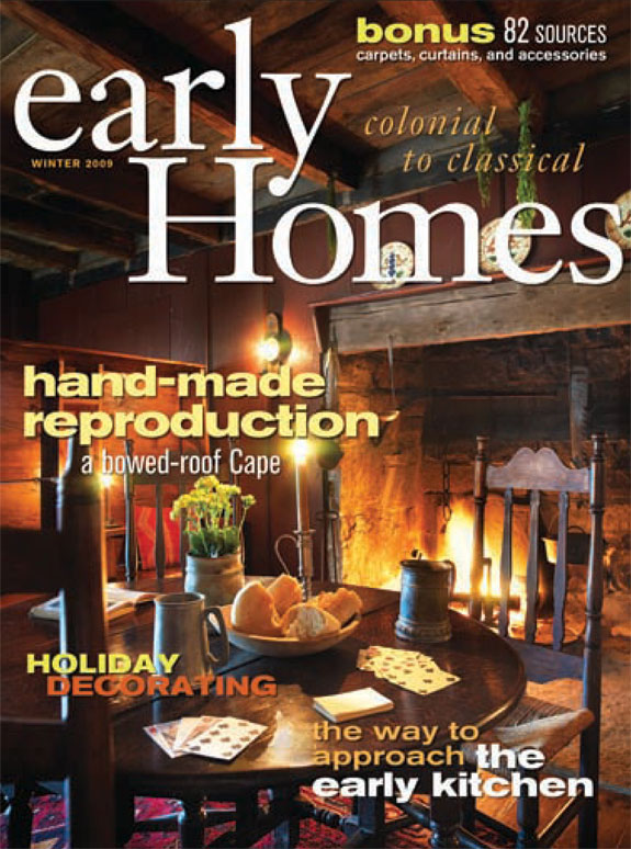Early Homes Magazine Cover, Winter 2009