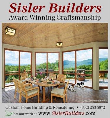 Sisler Builders' New Ad