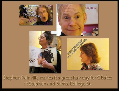 "Stephen Rainville creates a ""Great Hair Day"" from Stephen and Burns"